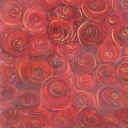 Ellen k gladis hand painted fabric art silk painting rose garden mightylinksfo